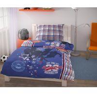 Prodloužené ložní povlečení pro mladé 140x220, 70x90cm Basket modrý
