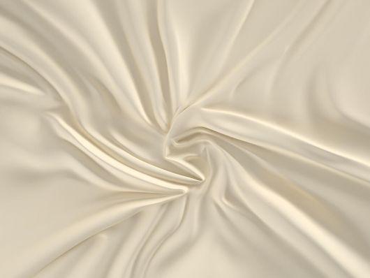 Saténové prostěradlo LUXURY COLLECTION 100x200cm smetanové