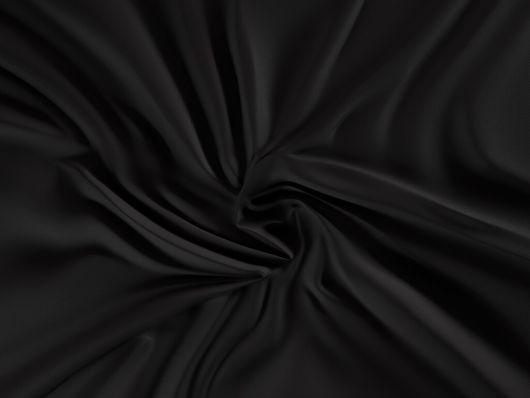 Saténové prostěradlo LUXURY COLLECTION 120x200cm černé