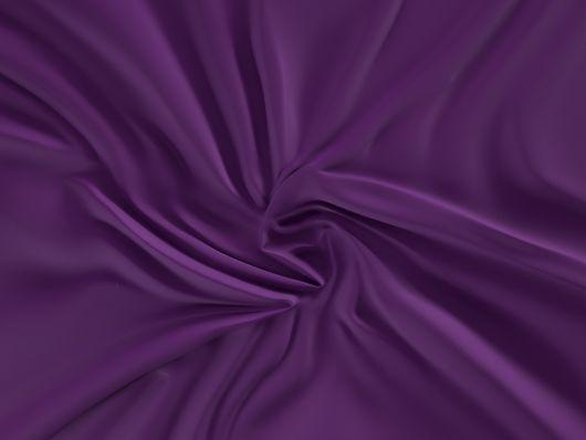Saténové prostěradlo LUXURY COLLECTION 80x200cm tmavě fialové