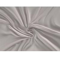 Saténové prostěradlo LUXURY COLLECTION 90x200cm světle šedé