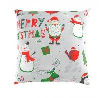 Vánoční povlak na polštář CHRISTMAS šedé